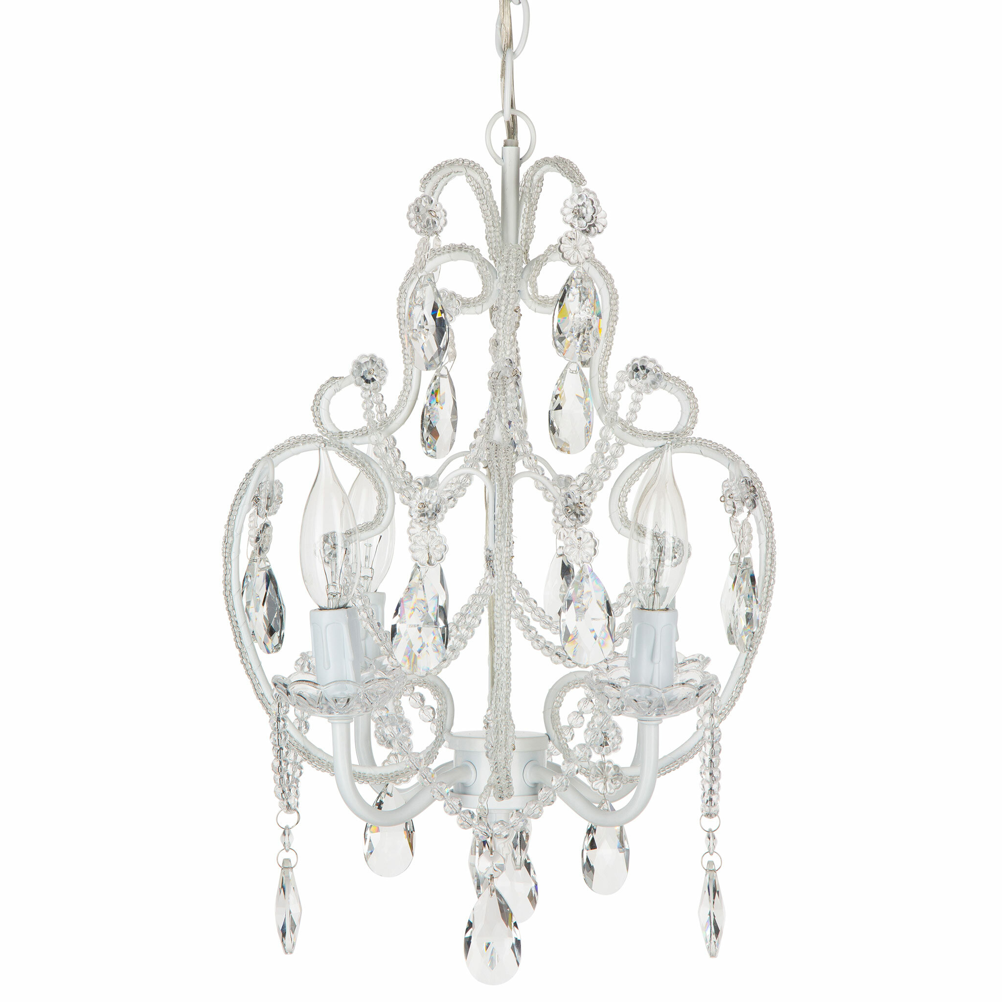 House of Hampton Alida 4 Light Crystal Chandelier with Chain