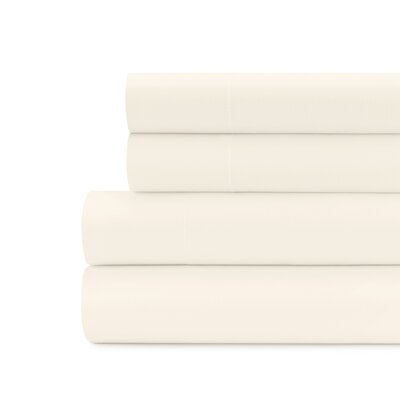 Briarwood Home 100% Cotton Solid Percale Sheet Set Size: King, Color: Beige