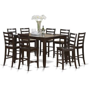 Krull 9 Piece Counter Height Extendable Solid Wood Dining Set
