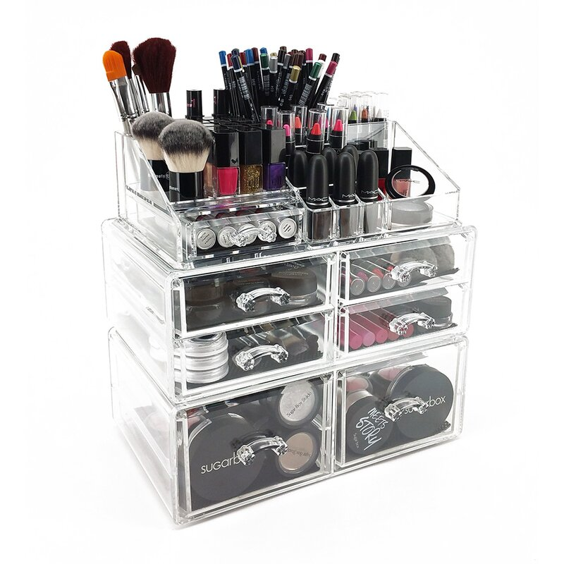 Vandue Corporation OnDisplay Sarah Deluxe Tiered Cosmetic .  sc 1 st  two tone wall colors - P4D & Makeup Organizer] Ikee Design Luxury Makeup Cosmetic Organizer ... Aboutintivar.Com