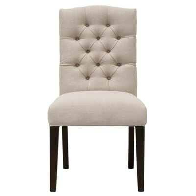 Mcfadden Wooden Framed Upholstered Dining Chair Canora Grey Upholstery Color: Beige