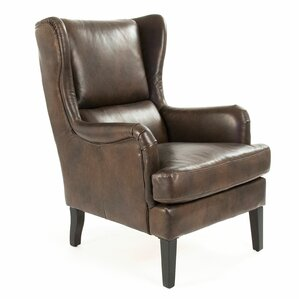 Wingback Leather Chairs You Ll Love Wayfair
