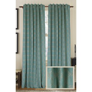 Zen Geometric Semi-Sheer Rod Pocket Single Curtain Panel