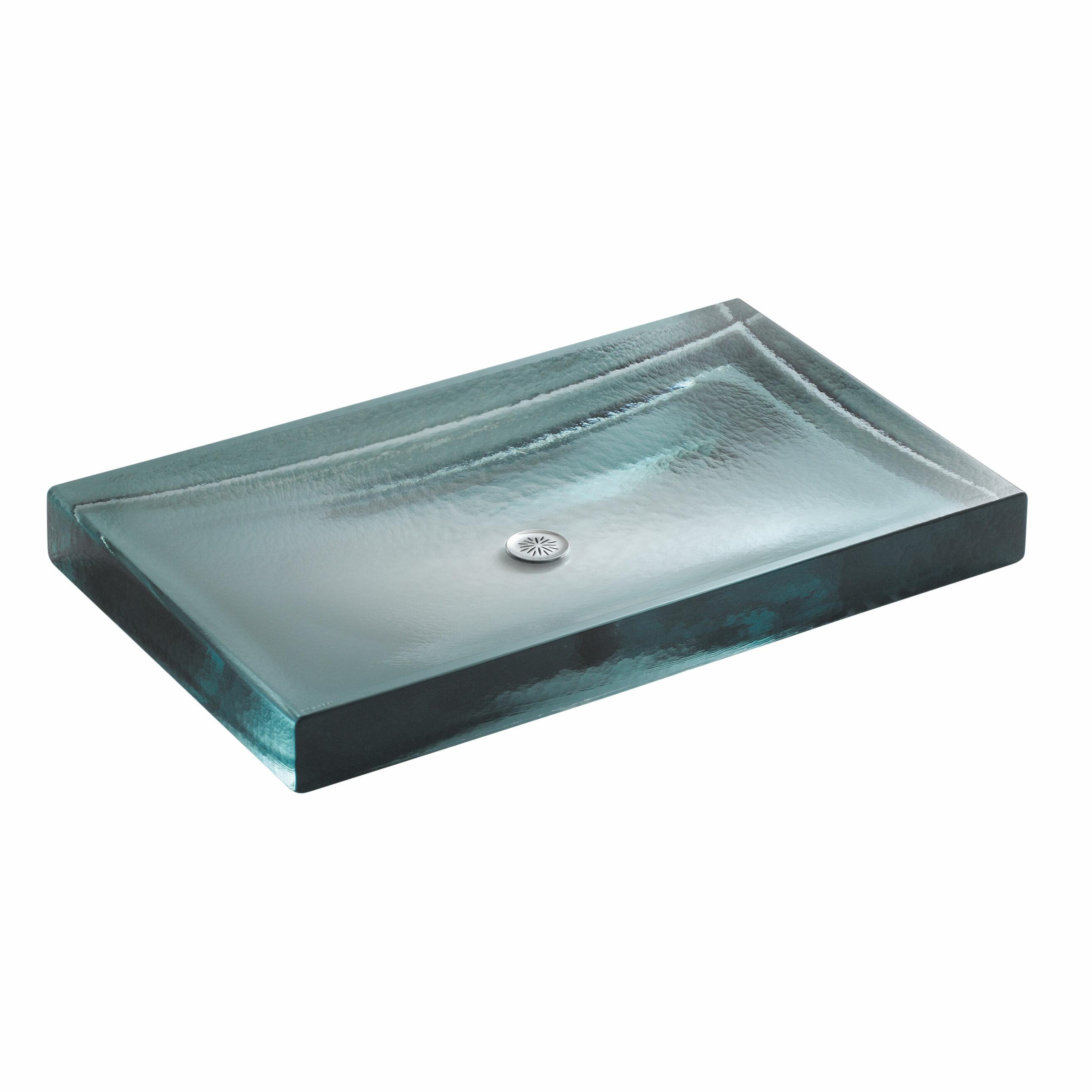 K-2369-B11 Kohler Alteo Glass Rectangular Vessel Bathroom Sink | Wayfair