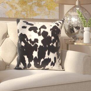 Margarida Cow Hide Print Throw Pillow Set Of 2