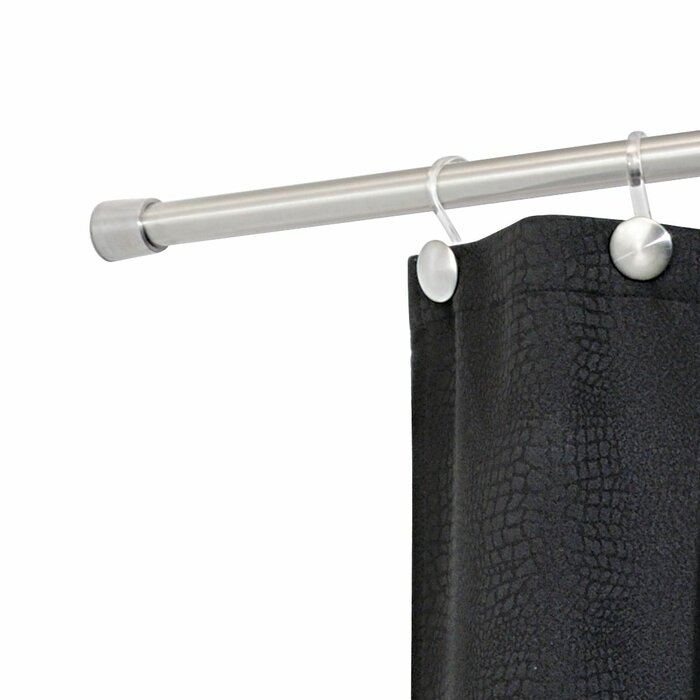 Larosa 87 Adjustable Straight Tension Shower Curtain Rod
