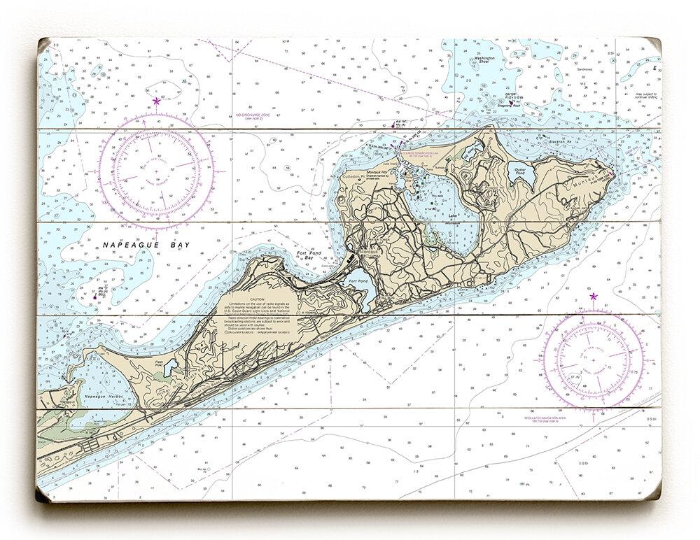 Longshore Tides Ny Montauk Ny Nautical Chart Sign Graphic Art