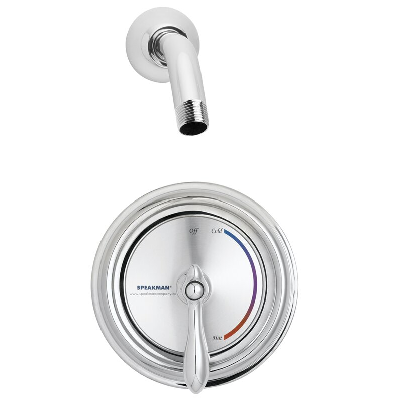 Speakman Sentinel Mark II Thermostatic Shower Faucet with Valve and ...