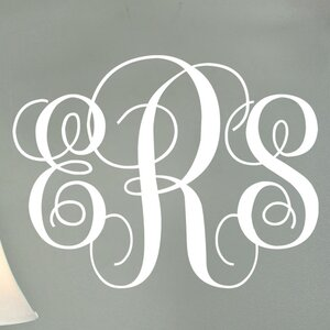 Chic Interlock Monogram Personalized Wall Decal