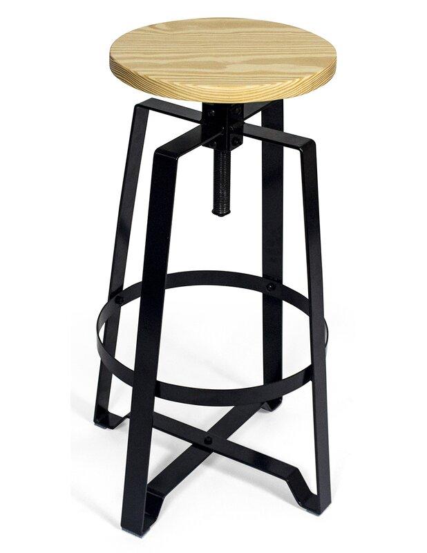 Tremendous Halie Adjustable Height Round Swivel Bar Stool Alphanode Cool Chair Designs And Ideas Alphanodeonline