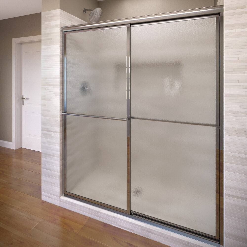 Basco Deluxe 48 X 68 Framed Bypass Sliding Shower Door Wayfair