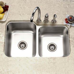 60 40 Kitchen Sink Undermount 6040 kitchen sinks wayfair elite 315 x 2019 undermount double bowl 6040 kitchen sink workwithnaturefo
