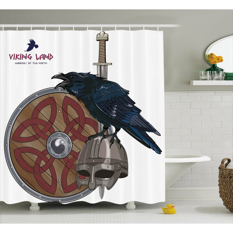 Viking Nordic War Army Design Shower Curtain