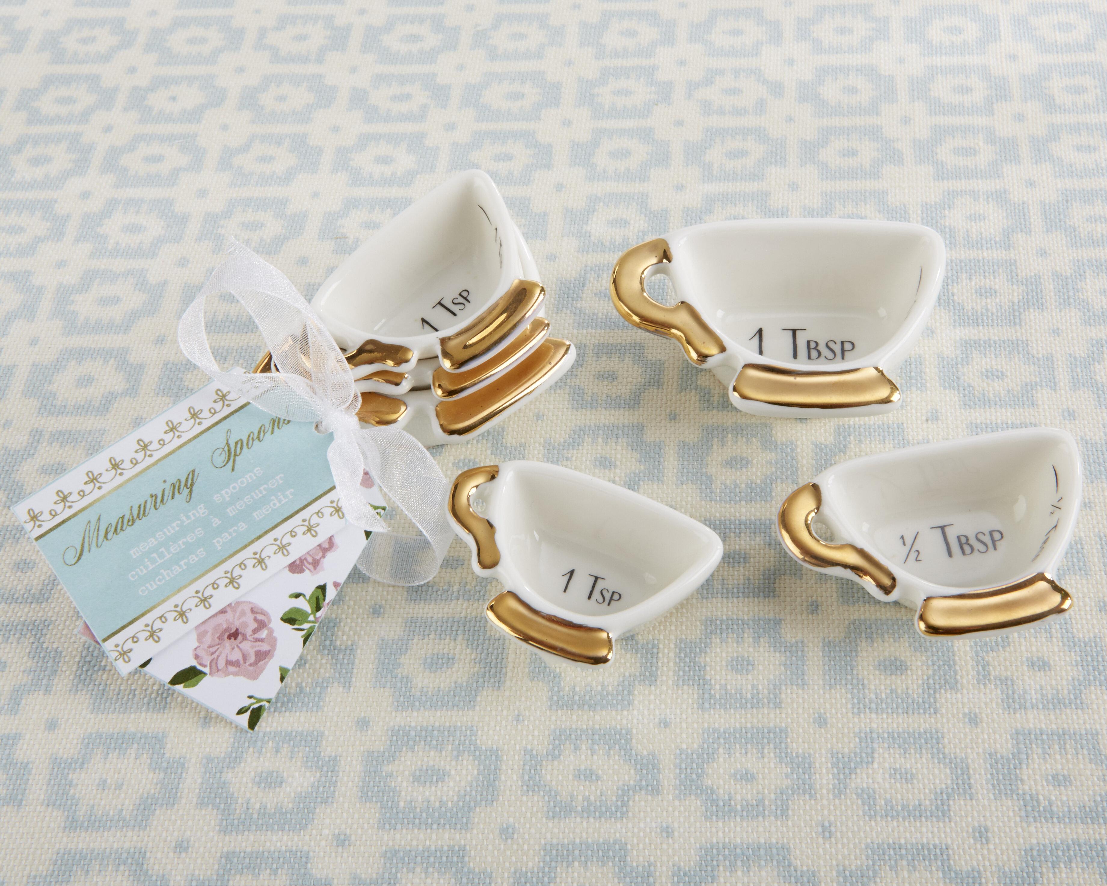 Kate Aspen Tea Time Whimsy 3-Piece Measuring Scoop Set | Wayfair