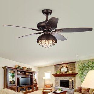 Ceiling Fan Living Room | Chandelier Crystal Ceiling Fans You Ll Love Wayfair