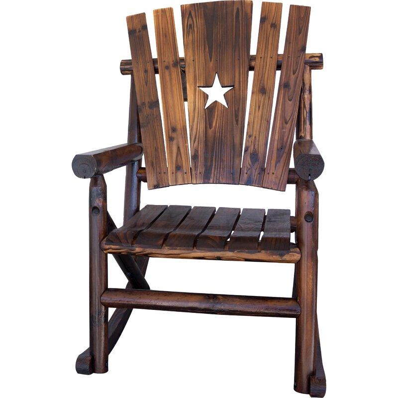 Char Log Star Single Rocking Chair