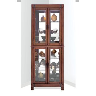 Wellesley Lighted Corner Curio Cabinet
