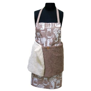 Cotton Jar Apron with Removeable Shaggie Towel