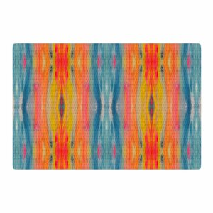 Nika Martinez Boho Tie Dye Teal/Orange Area Rug