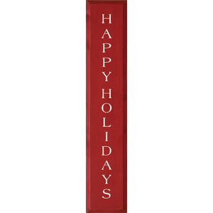 Happy Holidays Textual Art Plaque