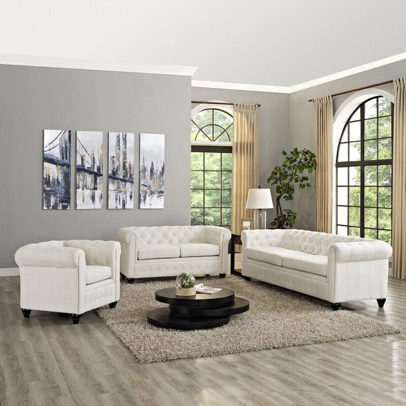 earl 3 piece living room set