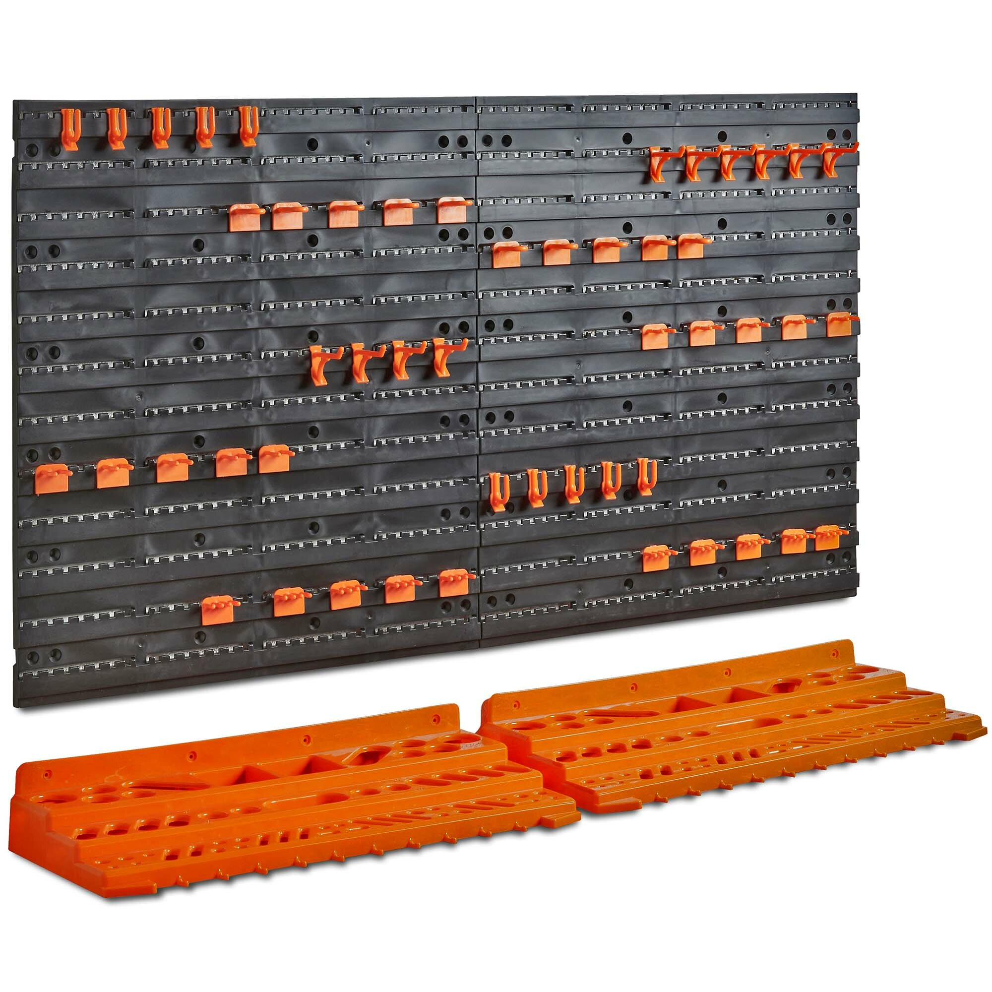 361b3364204 VonHaus 50 Piece Wall Mounted Plastic Pegboard and Shelf Tool Organizer 21