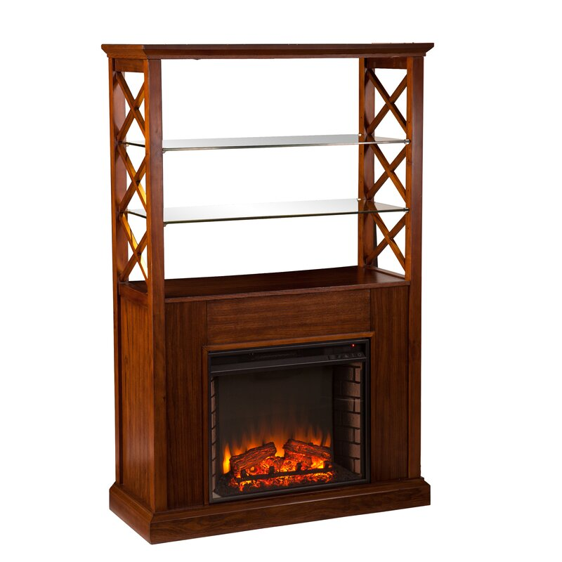 Red Barrel Studio Sea Dog Curio Tower Electric Fireplace & Reviews ...
