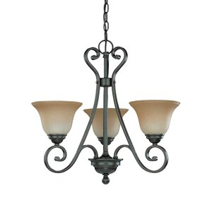 Montgomery 3-Light Shaded Chandelier
