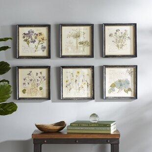 Pressed Flowers Framed Graphic Art Print & Purple Wall Art Youu0027ll Love | Wayfair