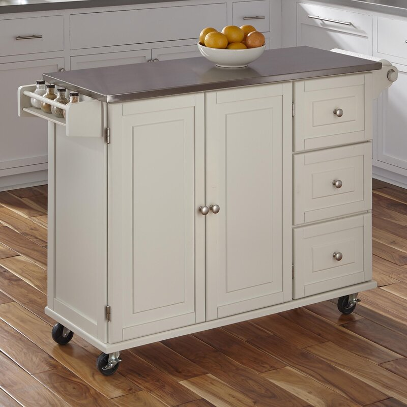 steel kitchen island andover mills kuhnhenn kitchen island with stainless steel 15052