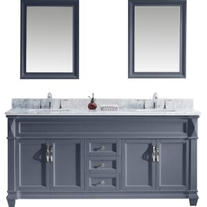 Custom Bathroom Vanities Omaha 72 inch vanities you'll love | wayfair