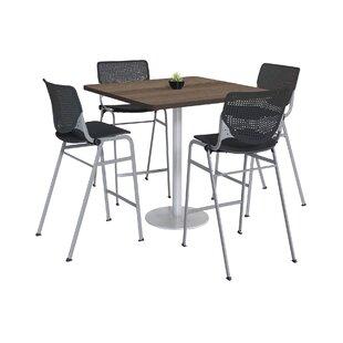 Lundell Bistro 5 Piece Pub Table Set