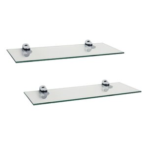 Troian Rectangle Glass Floating Shelf (Set of 2)