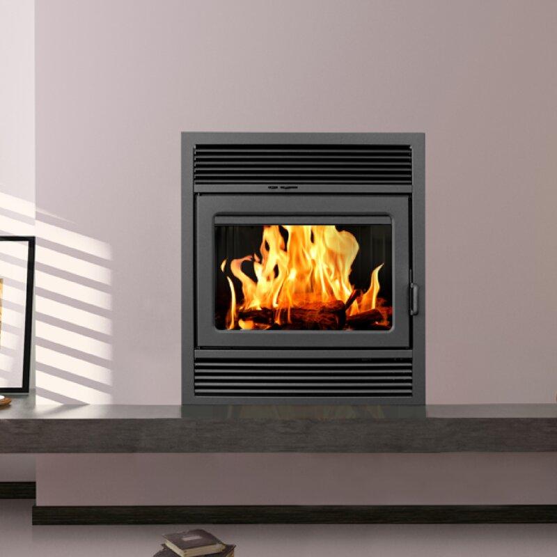 Galaxy Zero Clearance Classic Wood Burning Fireplace Insert