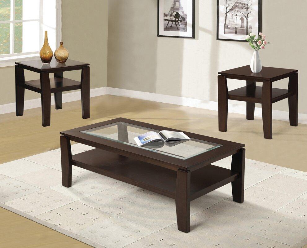 red barrel studio golder 3 piece coffee table set reviews. Black Bedroom Furniture Sets. Home Design Ideas