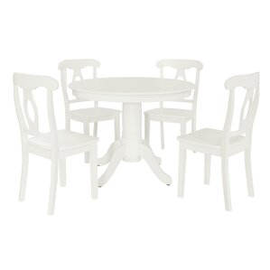 Aubrey 5-Piece Traditional Height Pedestal Dinin..
