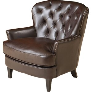 Waldorf Diamond Tufted Leather Club Chair by..