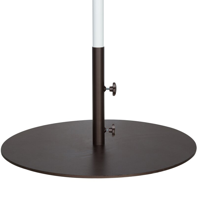 Round Steel Market Patio Umbrella Base - Abba Patio Round Steel Market Patio Umbrella Base & Reviews Wayfair