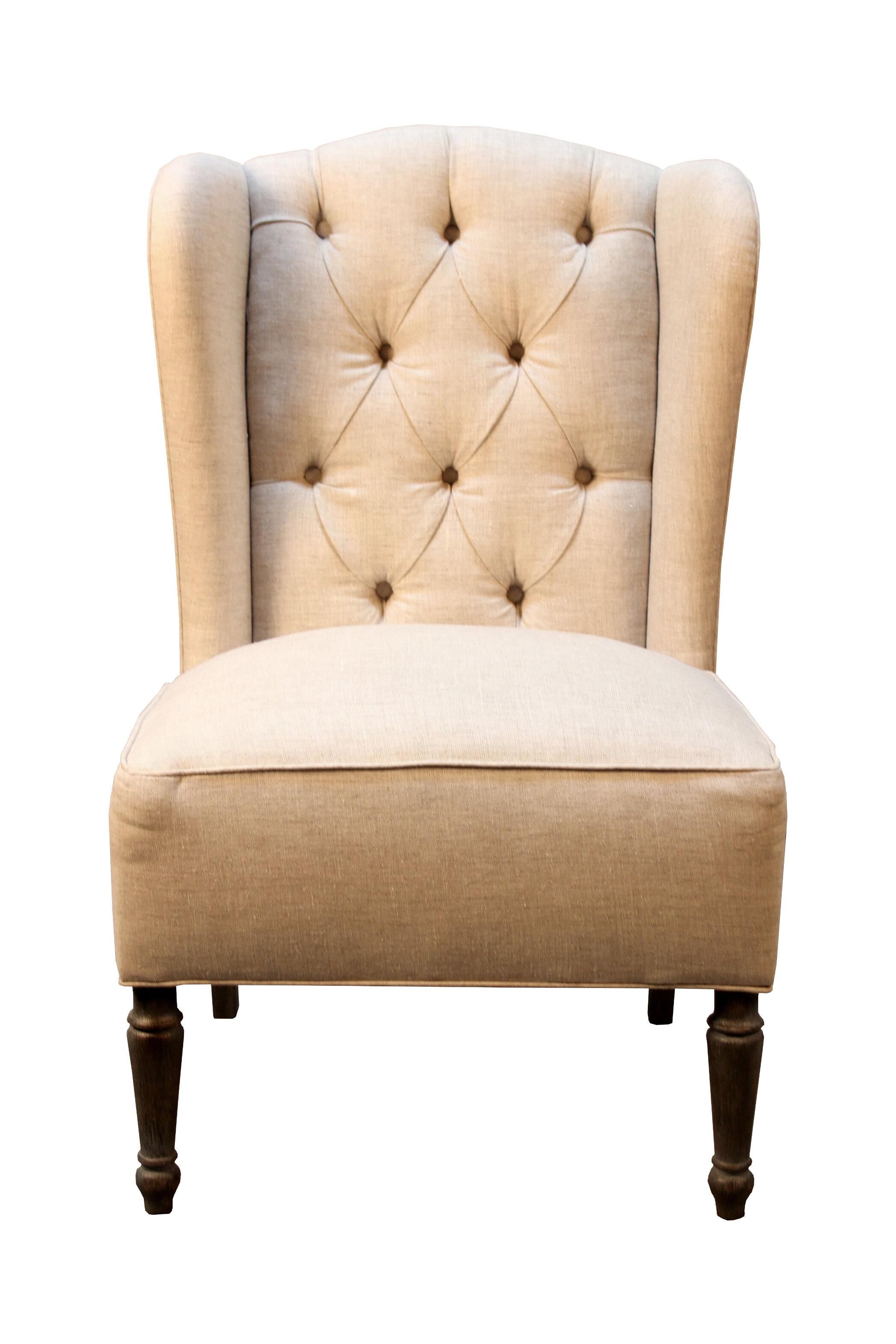 burlap furniture. One Allium Way Vanina Burlap And Linen Wingback Side Chair \u0026 Reviews   Wayfair Furniture R