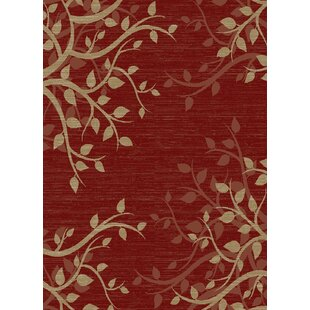 New York Willow Red Area Rug