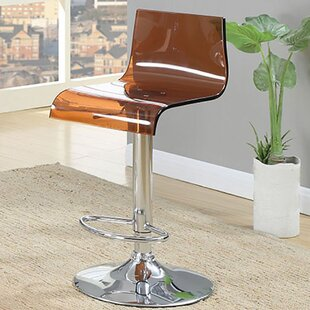 Hesiod Adjustable Height Swivel Bar Stool (Set of 2)