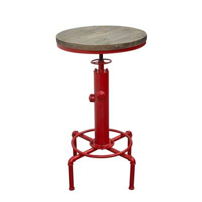 Brooklyn Adjustable Height Pub Table Diamond Sofa Color: Red