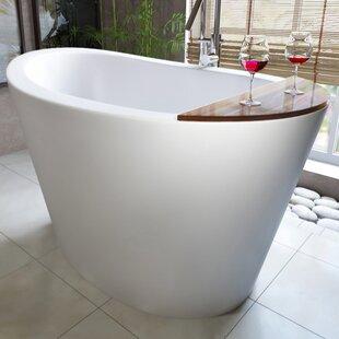 Japanese Soaking Tub For Small Bathroom. True Ofuro 51 5  x 36 25 Freestanding Soaking Bathtub Small Japanese Tub Wayfair
