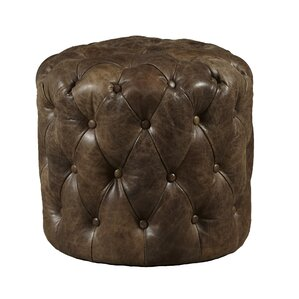 Kendra Leather Ottoman by High..
