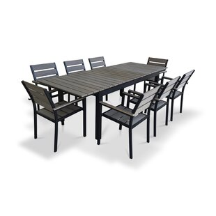 Modern Outdoor Dining Sets AllModern - White metal outdoor dining table