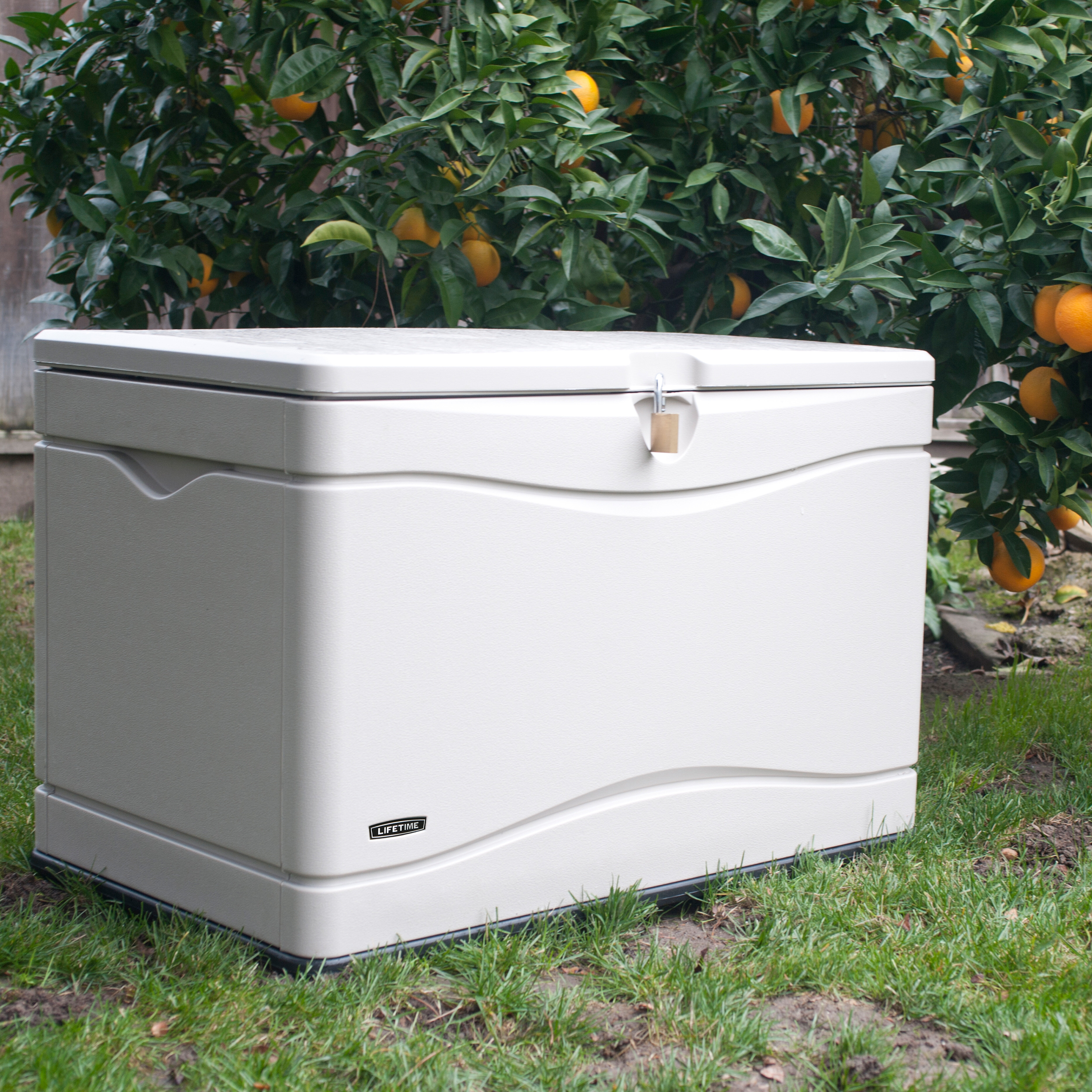 & Lifetime Outdoor Storage 80 Gallon Plastic Deck Box u0026 Reviews | Wayfair