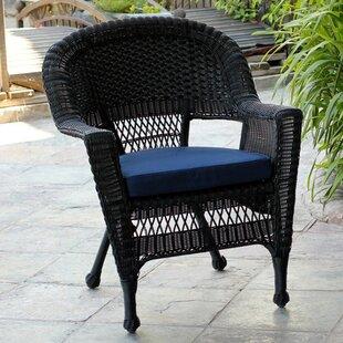 Surprising Black White Wicker Patio Lounge Chairs Youll Love Wayfair Machost Co Dining Chair Design Ideas Machostcouk