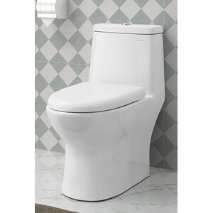 Ivyu00ae 1.28 GPF Elongated One-Piece Toilet