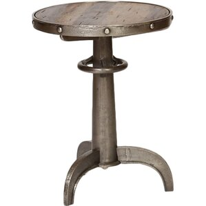Industrial Pedestal End Table by Knox & Harrison
