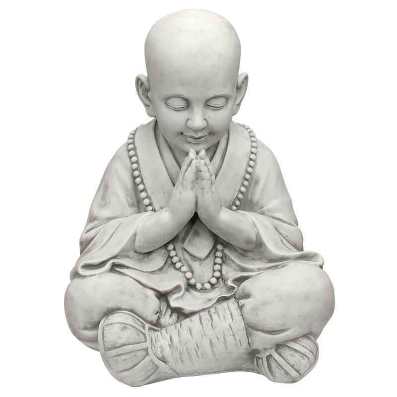 stone asian design toscano praying baby buddha asian garden statue reviews